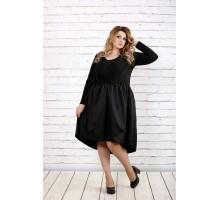 Черное платье с пышной юбкой ККК1615-0729-1