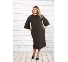 Великолепное платье с сеткой на плечах ККК168-0731-2