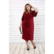 Бордовое стильное платье ККК1610-0730-3