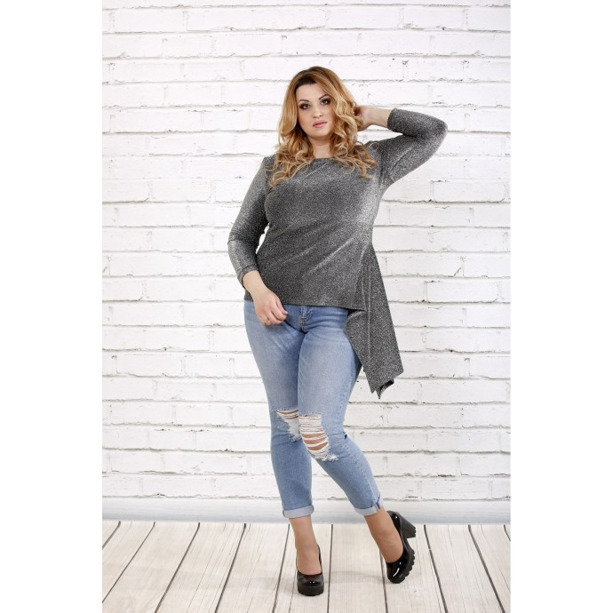 Красивая блузка с асимметрией ККК1626-0725-2