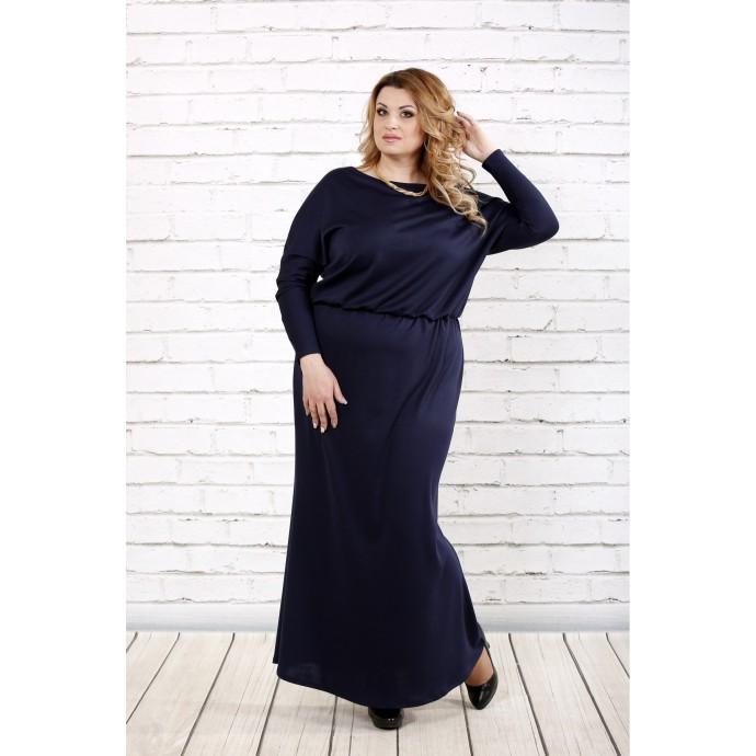 Платье в пол темно-синего цвета ККК1631-0720-3