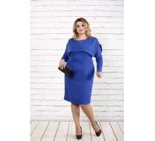 Синее строгое платье ККК1635-0719-2