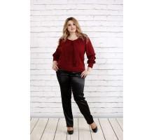 Бордовая блузка ККК1933-0763-2