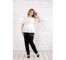 Белая элегантная блузка ККК1949-0757-1
