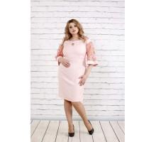 Нежное пудровое платье ККК1954-0755-2
