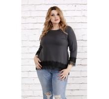 Темно-серая блузка ККК1960-0753-2