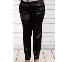 Черные брюки из плотного атласа ККК191-b036-1