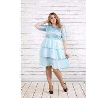 Голубое платье с гипюром ККК1956-0754-3