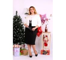 Костюм платье и накидка черно-белый ККК1143-0653-1