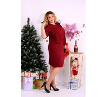 Очень нарядное бордовое платье ККК1140-0654-1