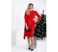 Алое яркое платье из вискозы ККК2021-0965-1