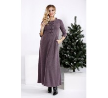 Свободное платье в пол из ангоры ККК2024-0964-1