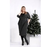 Практичное и приятное темное платье ККК205-0970-2