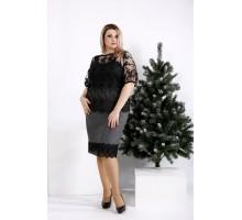 Черная блузка с вышивкой ККК2052-0954-1