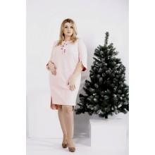 Нежное пудровое платье ККК20014-0992-1