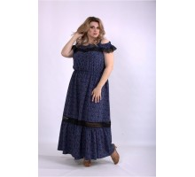 Свободное платье с принтом ККК33313-01161-3
