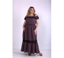 Платье в пол которое скрывает фигуру ККК33314-01161-2