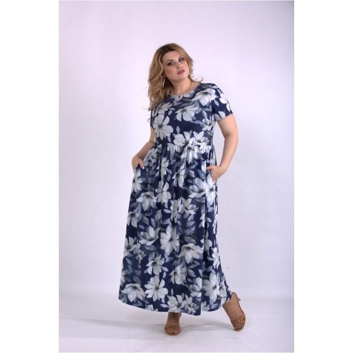 Длинное платье в пол с принтом ККК33327-01157-1