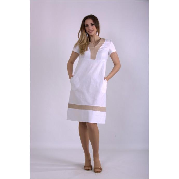 Белое легкое платье ККК33333-01155-1