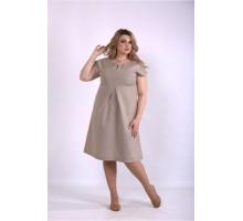Пышное платье мокко ККК33334-01154-3