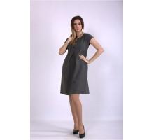 Серое платье ККК33336-01154-1