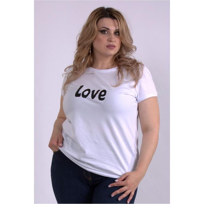 Белая трикотажная футболка ККК33343-01151-2