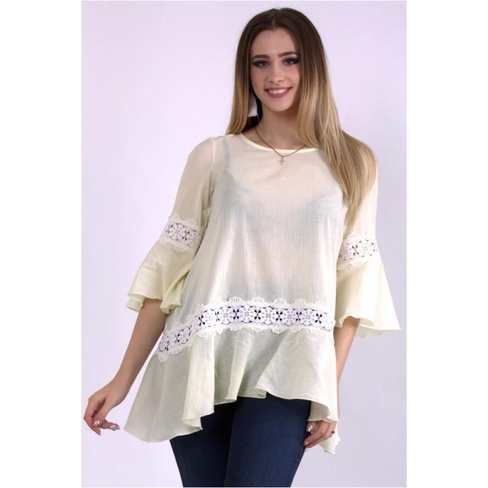 Лимонная блузка ККК33350-01149-1