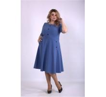 Пышное платье джинсового цвета ККК33351-01148-3