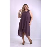 Платье бисквит без рукава ККК33354-01147-3
