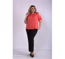 Костюм коралловая блузка и брюки ККК33357-01146-3