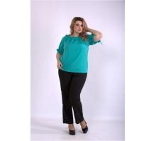 Костюм зеленая блуза и брюки ККК33358-01146-2