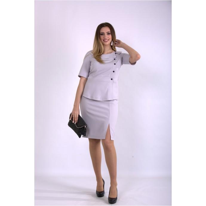 Серый деловой костюм ККК33362-01145-1