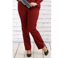 Бордовые красивые брюки ККК1714-0704-2-2