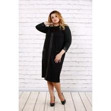 Темное трикотажное платье ККК1721-0703-1