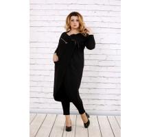 Черная блузка-туника ККК1722-0702-3