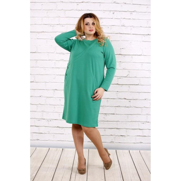 Зеленое повседневное платье ККК174-0707-3