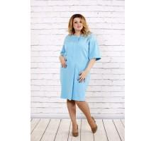 Очень нежное небесно-голубое платье ККК1747-0694-2