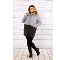 Кашемировое двухцветное пальто ККК1751-t0692-1
