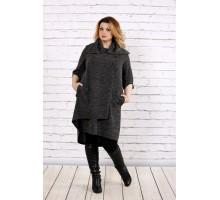 Темное качественное платье из ангоры ККК1755-0687-3