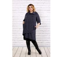 Приятное серое платье из ангоры ККК1757-0687-1