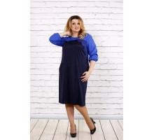 Синее свободное платье ККК1758-0677-3