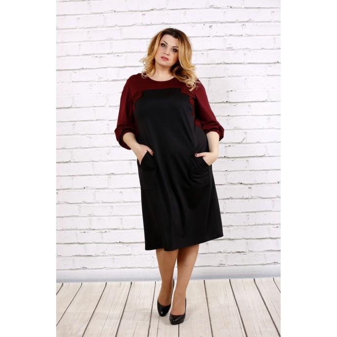 Черное с красным платье ККК1759-0677-2