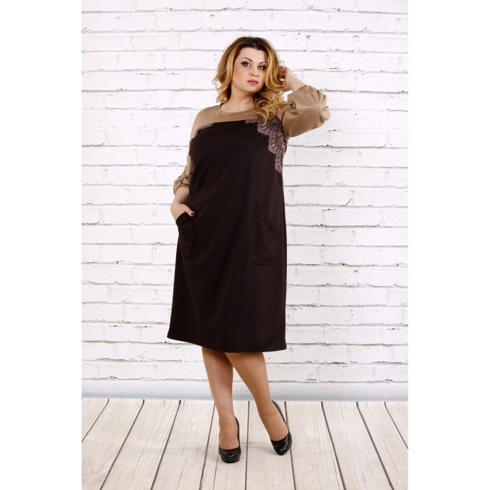 Коричневое платье ККК1760-0677-1
