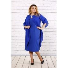 Платье с шифоном электрик ККК172-0708-2