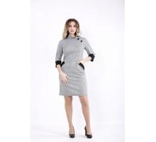 Серое платье ангора ККК524-01062-1