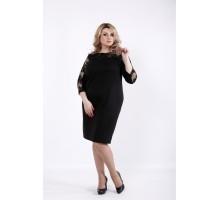 Элегантное черное платье с вышивкой ККК530-01060-1
