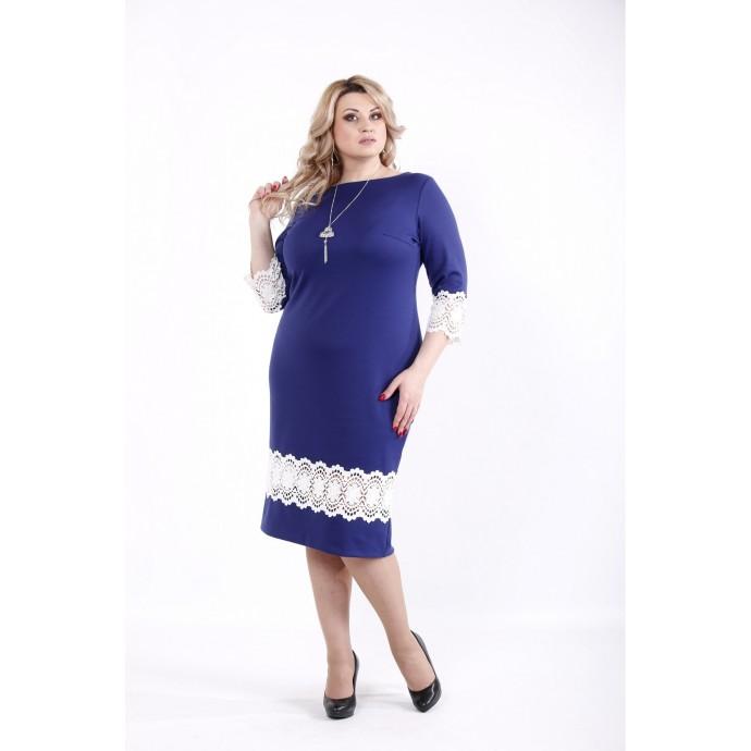 Платье с кружевной вставкой ККК532-01059-2