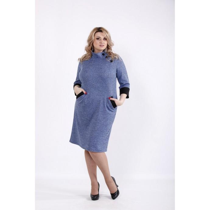 Платье джинс из ангоры с карманами ККК522-01062-3