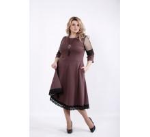 Бисквитное платье с пышной юбкой ККК541-01056-2