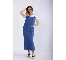 Длинное модное джинсовое платье ККК44412-01207-1